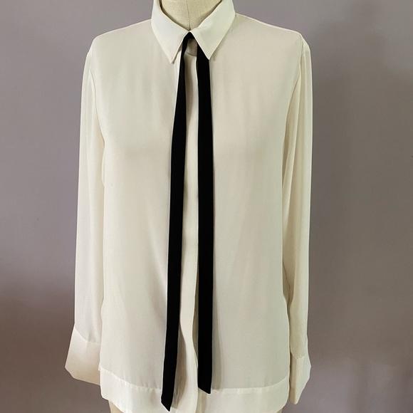 Banana Republic cream blouse